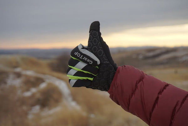Touch screen running gloves.