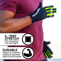 Touch Screen Reflective Running Gloves