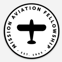Sticker Plane Badge 3 X 3