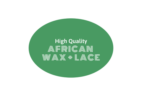 African Wax + Lace Fabric