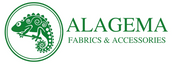 Alagema Fabrics & Accessories (logo) your one-stop shop for African fabric, clothing, and accessories.