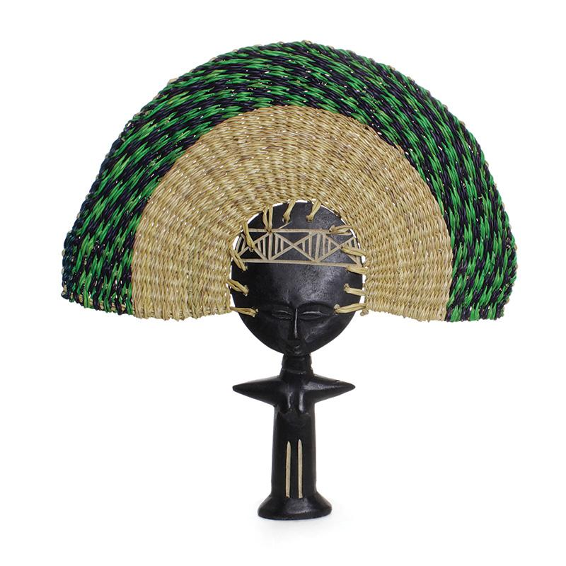 Ashanti Fertility Idol Fan Statue - Alagema Fabrics & Accessories