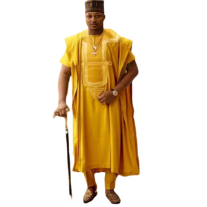 Gold Agbabada Suite - Alagema Fabrics & Accessories
