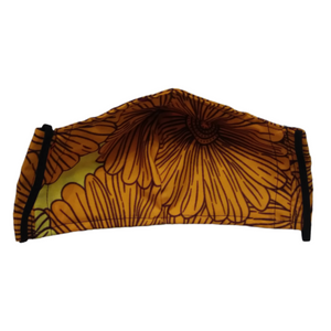 Handmade Ankara African Wax Print Face Mask with Filter Pocket #2 - Alagema Fabrics & Accessories