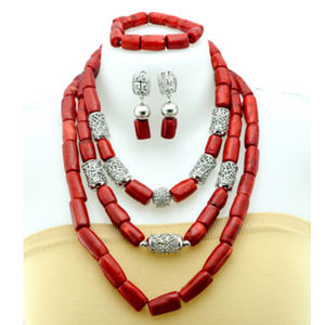Women's High Quality Coral Jewelry Set #9 - Alagema Fabrics & Accessories