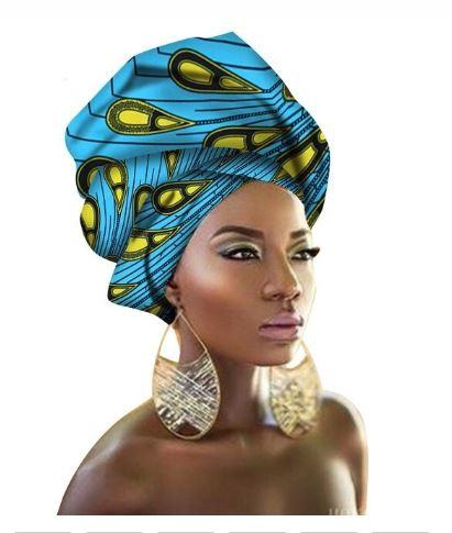 High-Quality African Print fabric Gele #69 - Alagema Fabrics & Accessories