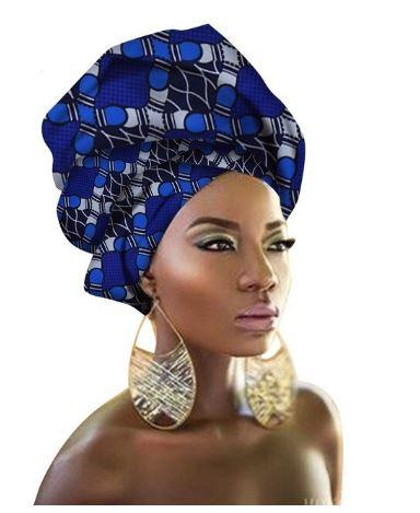 High-Quality African Print fabric Gele #64 - Alagema Fabrics & Accessories