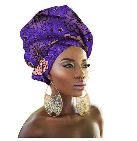 High-Quality African Print fabric Gele #56 - Alagema Fabrics & Accessories