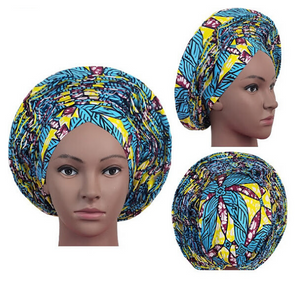 High Quality Wax Print Auto Gele #19 - Alagema Fabrics & Accessories