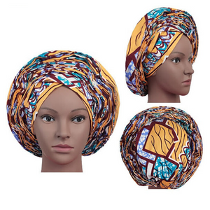 High Quality Wax Print Auto Gele #24 - Alagema Fabrics & Accessories