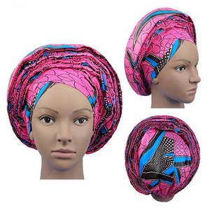 High Quality Wax Print Auto Gele #28 - Alagema Fabrics & Accessories