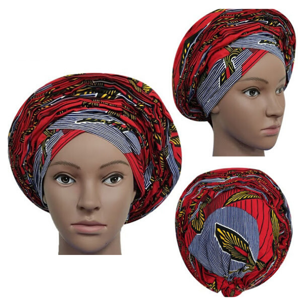 High Quality Wax Print Auto Gele #15 - Alagema Fabrics & Accessories