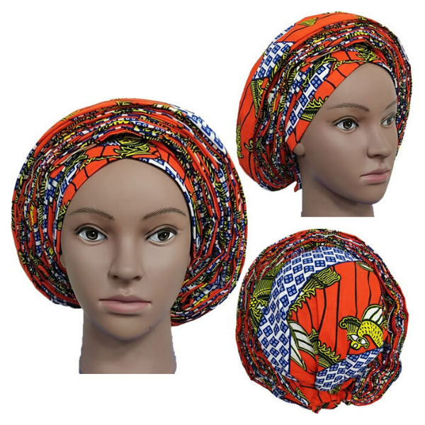 High Quality Wax Print Auto Gele #1 - Alagema Fabrics & Accessories