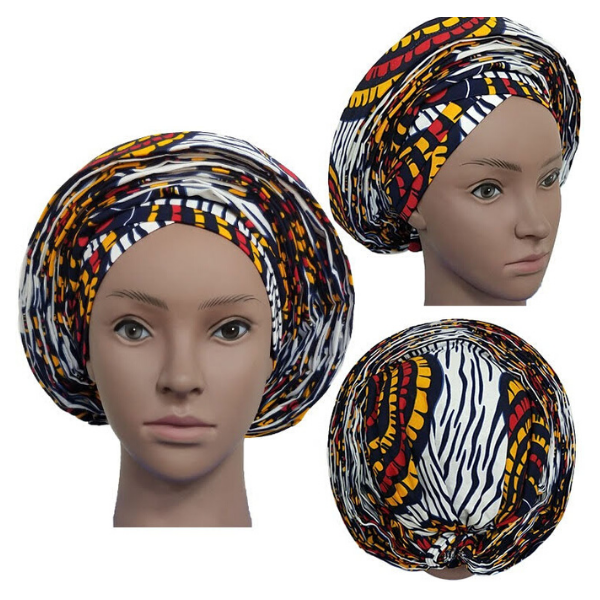 High Quality Wax Print Auto Gele #14 - Alagema Fabrics & Accessories