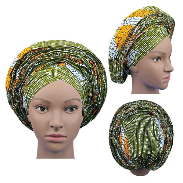High Quality Wax Print Auto Gele #12 - Alagema Fabrics & Accessories