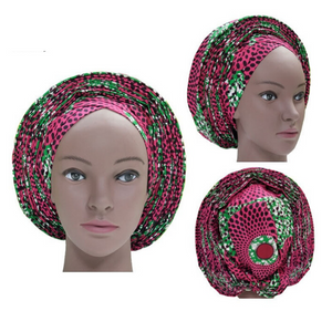 High Quality Wax Print Auto Gele #25 - Alagema Fabrics & Accessories
