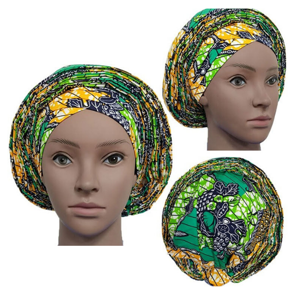 High Quality Wax Print Auto Gele #5 - Alagema Fabrics & Accessories