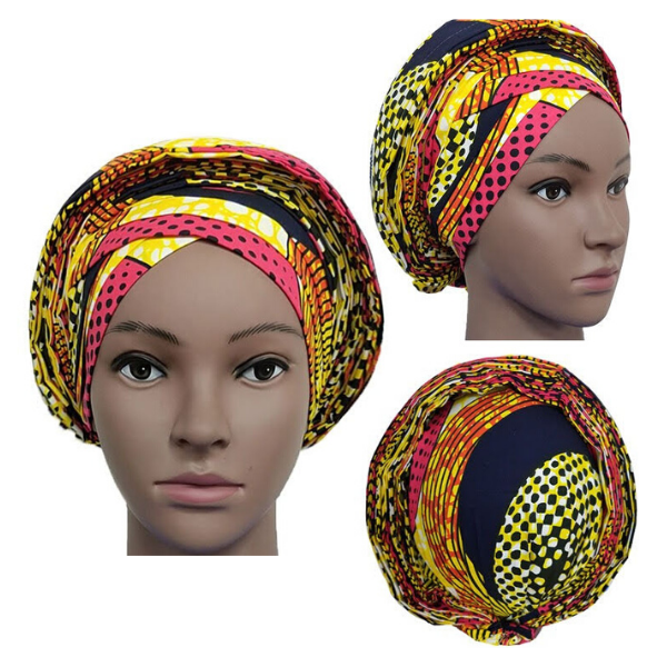 High Quality Wax Print Auto Gele #16 - Alagema Fabrics & Accessories