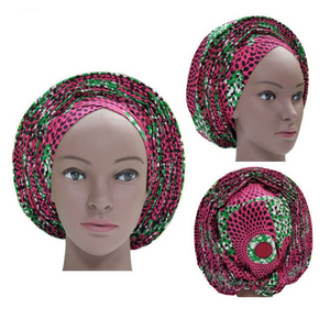 High Quality Wax Print Auto Gele #34 - Alagema Fabrics & Accessories