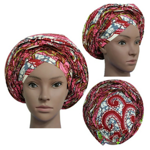High Quality Wax Print Auto Gele #31 - Alagema Fabrics & Accessories