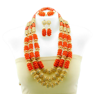 Women's High Quality Coral Jewelry Set #20 - Alagema Fabrics & Accessories