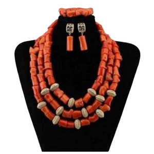 Women's High Quality Coral Jewelry Set #27 - Alagema Fabrics & Accessories