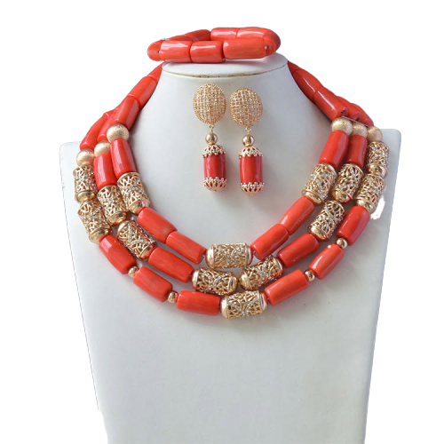 Women's High Quality Coral Jewelry Set #15 - Alagema Fabrics & Accessories
