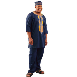 Navy Regal Pant Set - Alagema Fabrics & Accessories