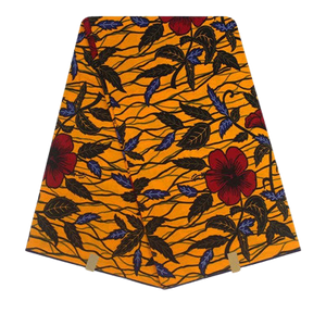 High Quailty 100% Cotton African Hollandais Wax Print Fabric #21 - Alagema Fabrics & Accessories