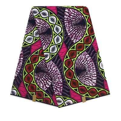High Quailty 100% Cotton African Hollandais Wax Print Fabric #223 - Alagema Fabrics & Accessories