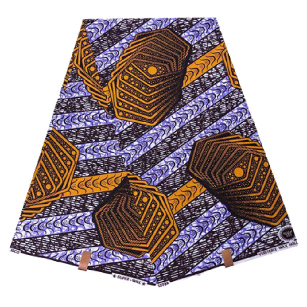 High Quailty 100% Cotton African Hollandais Wax Print Fabric #100 - Alagema Fabrics & Accessories