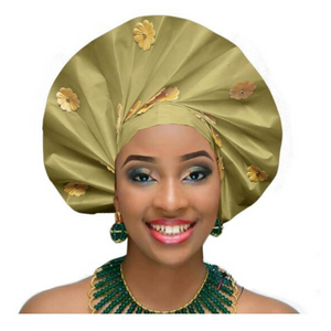High-Quality Aso Oke Auto Gele #41 - Alagema Fabrics & Accessories