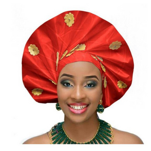 High-Quality Aso Oke Auto Gele #38 - Alagema Fabrics & Accessories