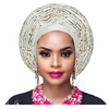 High-Quality Aso Oke Auto Gele #15 - Alagema Fabrics & Accessories