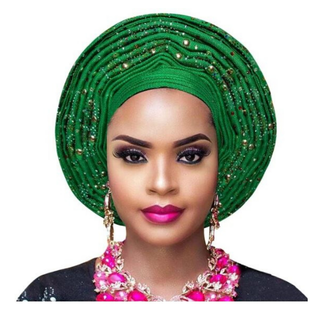 High-Quality Aso Oke Auto Gele #14 - Alagema Fabrics & Accessories