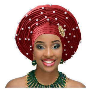 High-Quality Aso Oke Auto Gele #2 - Alagema Fabrics & Accessories