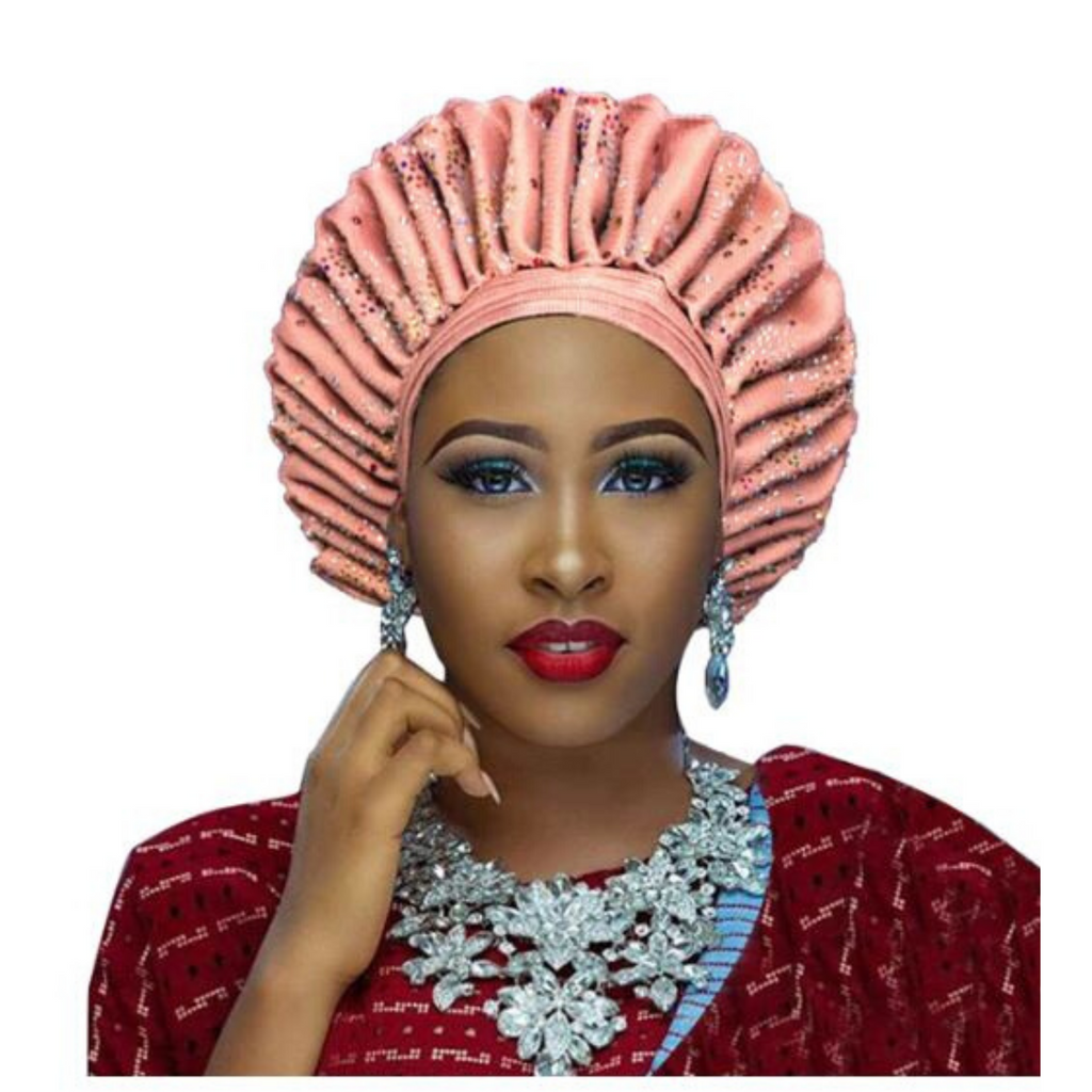 High-Quality Aso Oke Auto Gele #13 - Alagema Fabrics & Accessories