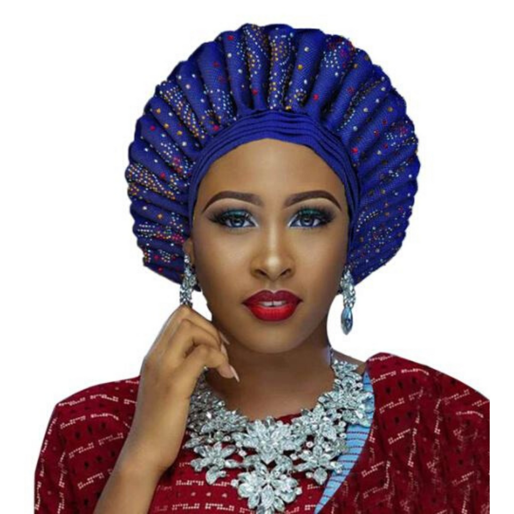 High-Quality Aso Oke Auto Gele #11 - Alagema Fabrics & Accessories