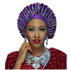 High-Quality Aso Oke Auto Gele #12 - Alagema Fabrics & Accessories