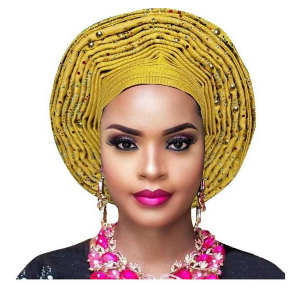 High-Quality Aso Oke Auto Gele #16 - Alagema Fabrics & Accessories