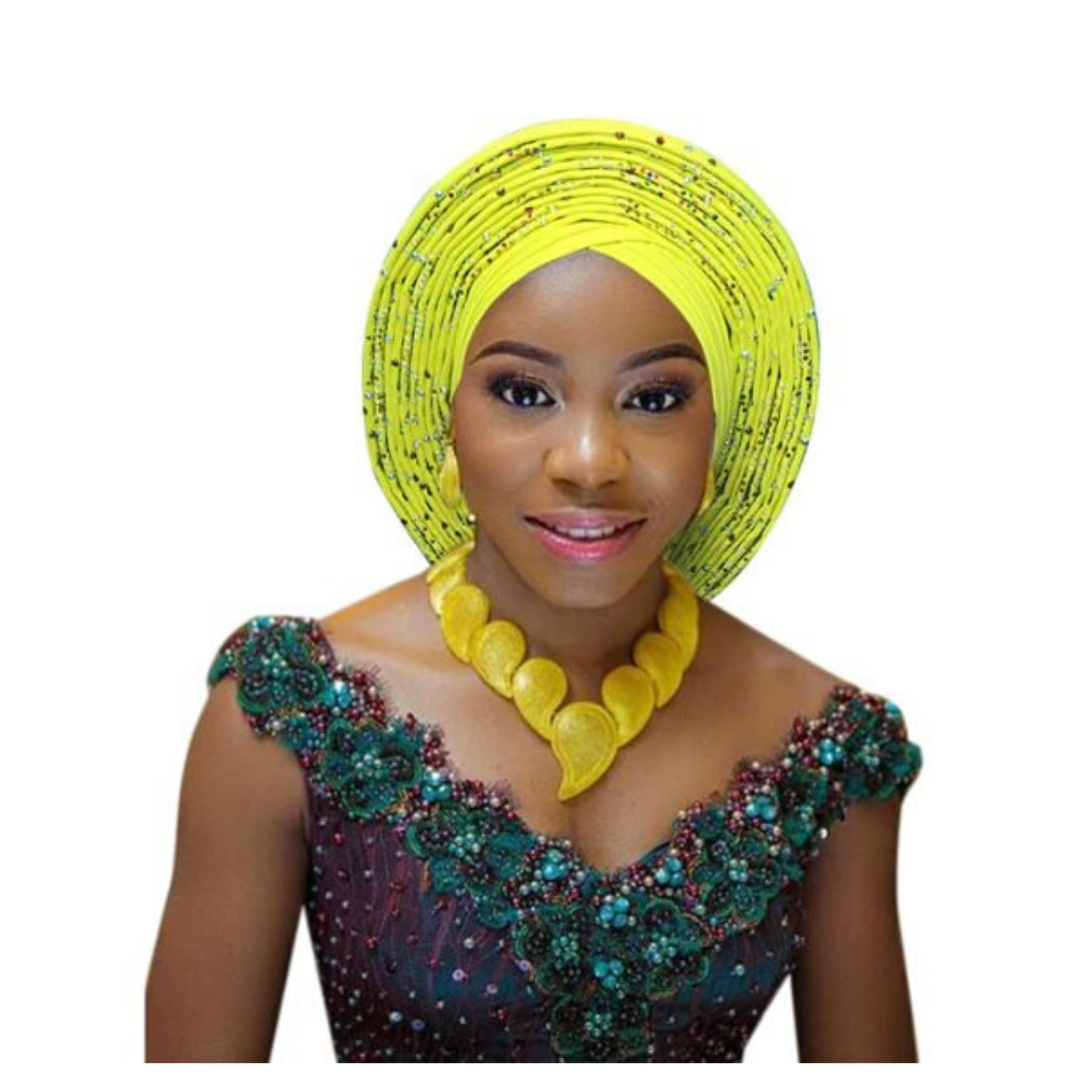 High-Quality Aso Oke Auto Gele #55 - Alagema Fabrics & Accessories