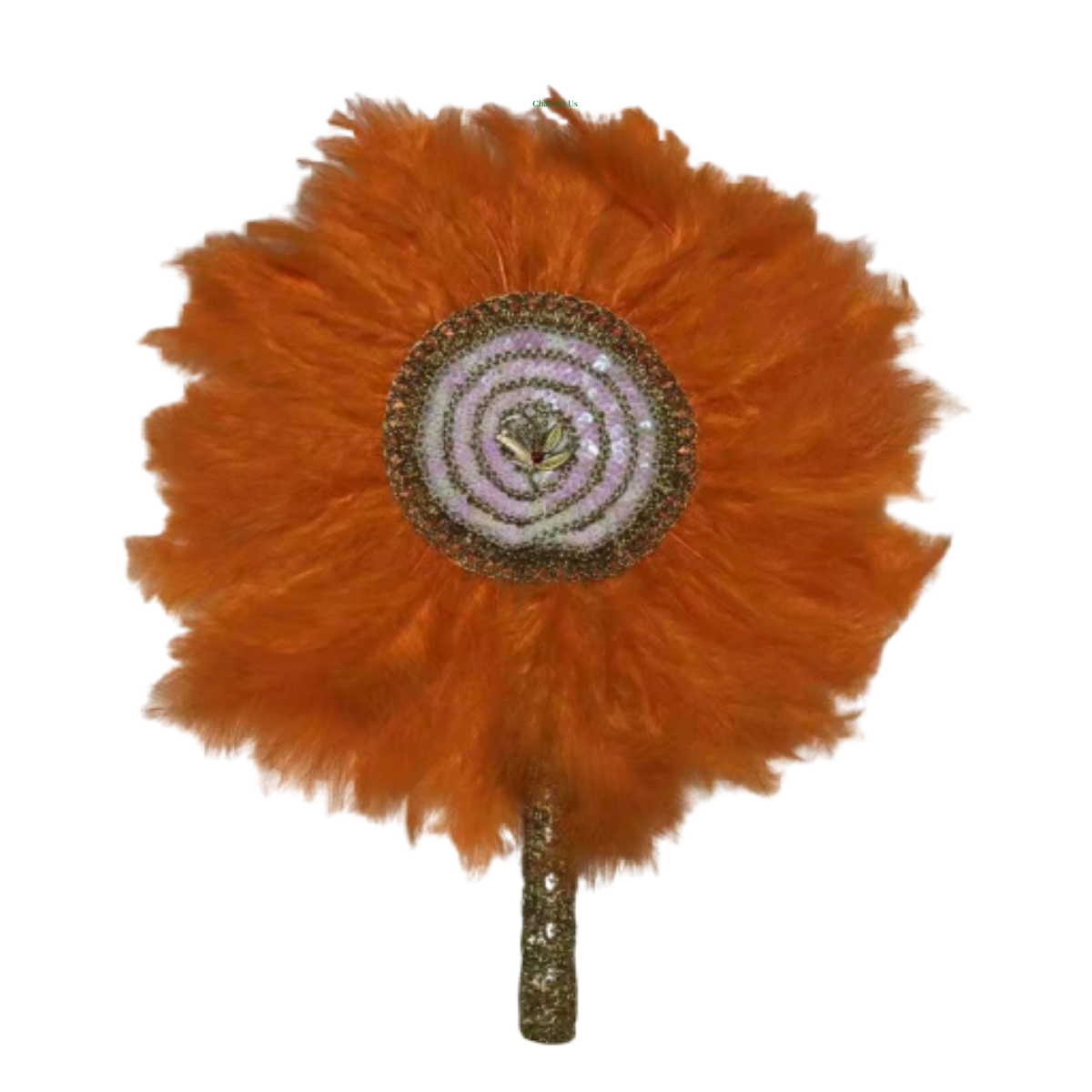 High-Quality Handmade Wedding Feather Hand Fan #21 - Alagema Fabrics & Accessories