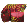 High Quality Six Yards African Wax Print Fabric with Matching Bag #11 - Alagema Fabrics & Accessories