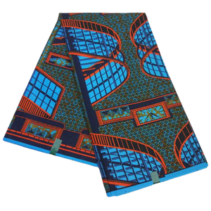 High Quailty Polyester African Print Fabric #28 - Alagema Fabrics & Accessories
