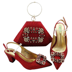 High-Quality Shoe & Handbag Set #50 - Alagema Fabrics & Accessories
