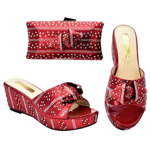 High-Quality Shoe & Handbag Set #32 - Alagema Fabrics & Accessories
