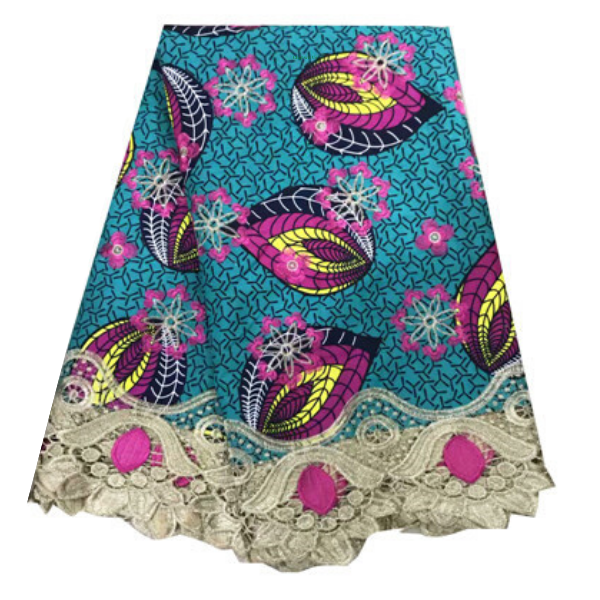 100% Cotton Ankara + Lace #89 - Alagema Fabrics & Accessories
