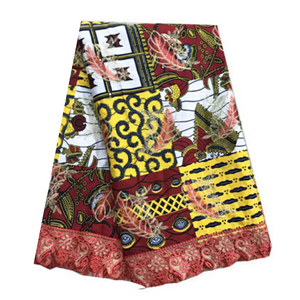100% Cotton Ankara + Lace #97 - Alagema Fabrics & Accessories