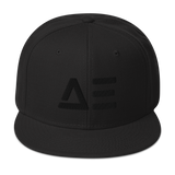 Abstract Effects Snapback Hat (Black)