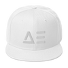 Abstract Effects Snapback Hat (White)